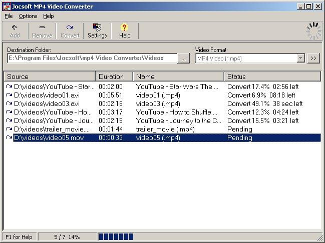 Windows 7 Jocsoft MP4 Video Converter 1.2.5.1 full