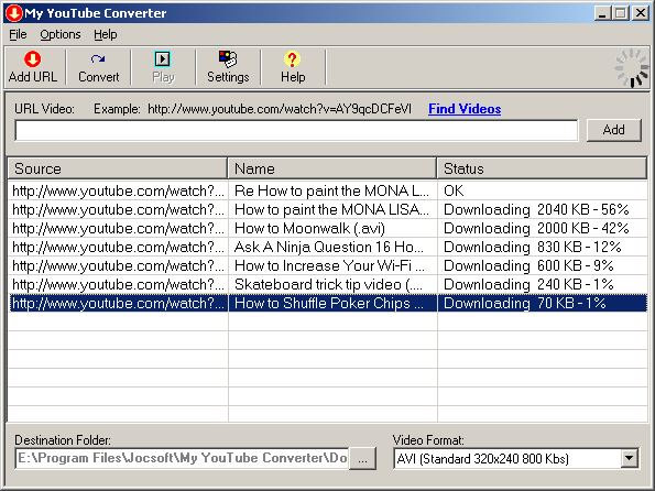 Captura de pantalla de My YouTube Converter 1.2.0.0